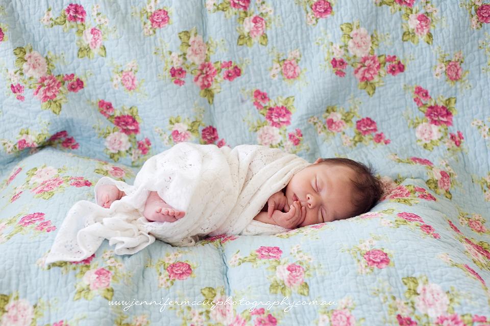floral quilt newborn